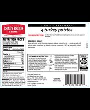 Shady Brook Farms Fresh Lightly Seasoned Ground Turkey Pattie...