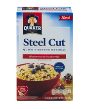 Quaker® Steel Cut Blueberries & Cranberries Quick 3 Minute Oa...