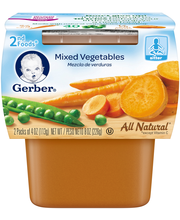 Gerber® 2nd Foods® Mixed Vegetables Baby Food 2-4 oz. Cups