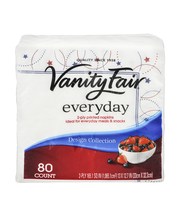 Vanity Fair Everyday Napkins - 80 CT