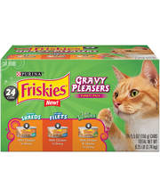 Purina Friskies Gravy Cravers Variety Pack Cat Food 24-5.5 oz...