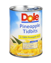 Dole® Pineapple Tidbits in 100% Pineapple Juice 20 oz. Can