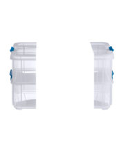Sterilite Stack & Carry 2-Layer Handle Box Clear