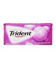Trident Bubblegum Sugar Free Gum with Xylitol 18 Stick Pack