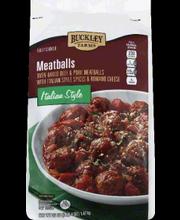 BUCKLEY FARMS MEATBALLS ITALIAN