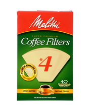 Melitta® Super Premium Size #4 Natural Brown Cone Coffee Filt...