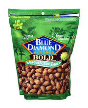 Blue Diamond Bold Wasabi & Soy Sauce Almonds 16 Oz Bag
