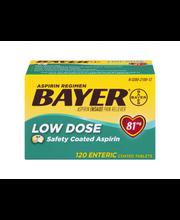 Bayer® Aspirin Regimen Low Dose Safety Coated Tablets 120 ct Box