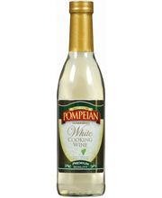 Pompeian White Imported Cooking Wine 12.7 Oz Glass Bottle