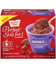 Duncan Hines® Perfect Size for One® Decadent Brownie Mix 4-2....