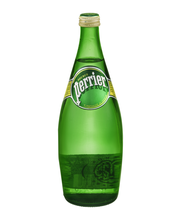 PERRIER Sparkling Natural Mineral Water, 25.3-ounce glass bottle