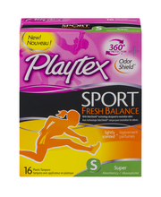 Playtex® Sport Fresh Balance Lightly Scented Super Absorbency...