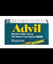 Advil® Pain Reliever/Fever Reducer (Ibuprofen) Gel Caplets 20...