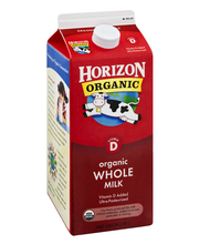 Horizon Organic® Vitamin D Whole Organic Milk .5 gal. Carton
