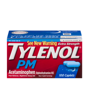 Tylenol® PM Acetaminophen, Diphenhydramine HCL Pain Reliever ...