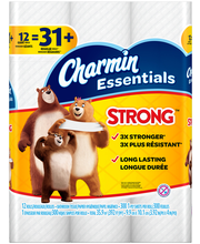 Essentials Strong Charmin Essentials Strong Toilet Paper 12 G...