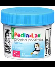 Fleet® Pedia-Lax™ Laxative Glycerin Suppositories 12 ct Jar