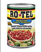 Ro*Tel W/Lime Juice & Cilantro Mexican Festival Diced Tomatoe...