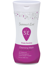 Summer's Eve Simply Sensitive Cleansing Wash 9 Oz Squeeze Bottle