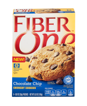 Fiber One Crunchy Cookies Chocolate Chip Pouches - 6 CT