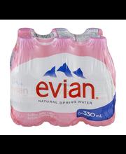 Evian® Natural Spring Water 6-330mL Bottles
