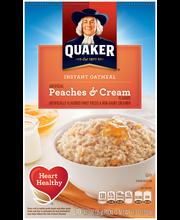Quaker Peaches & Cream Instant Oatmeal (10-1.23 oz.) 12.3 oz....