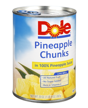 Dole® Pineapple Chunks in 100% Pineapple Juice 20 oz. Can