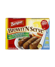 Banquet Brown 'N Serve Sausage Links Turkey - 10 CT