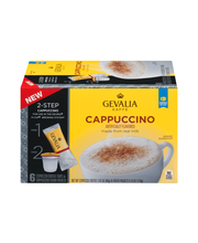 Gevalia Cappuccino Espresso Coffee K-Cup® Pods & Froth Packet...