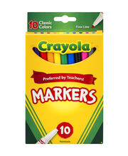 Crayola Markers Classic Colors Fine Line - 10 CT