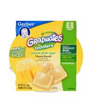 Gerber Pasta Pick-Ups, Cheese Ravioli, 6 oz Tray