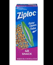 Ziploc® Snack Bags 40 ct Bags