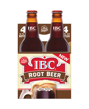 IBC Root Beer Made with Sugar, 12 Fl Oz Glass Bottles, 4 Pack