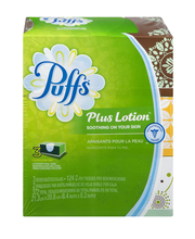 Puffs® Plus Lotion™ White Facial Tissues 3-124 ct Boxes