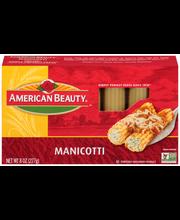 American Beauty® Manicotti Pasta 8 oz. Box