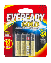 Eveready Gold AAA Batteries - 8 CT