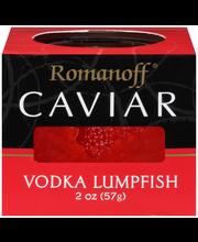 Romanoff® Vodka Lumpfish Caviar 2 oz. Jar