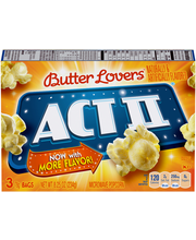 Act II® Butter Lovers® Microwave Popcorn 3-78g Bags