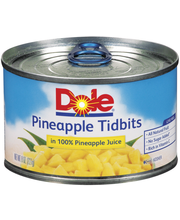 Dole Canned Fruit Tidbits In 100% Pineapple Juice Pineapple 8...
