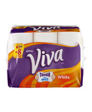 VIVA Full Sheet Paper Towels, White, Big Roll, 6 Rolls