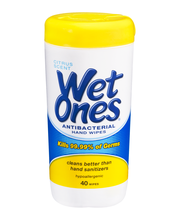 Wet Ones Antibacterial Citrus Scent Canisters 40 Ct Canister