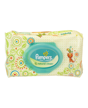 Pampers Natural Clean Wipes 64 ct Pack