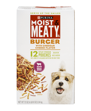 Purina Moist & Meaty Burger with Cheddar Cheese Flavor Dog Fo...