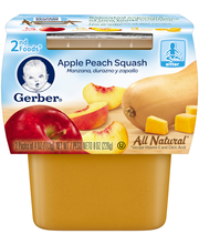 Gerber® 2nd Foods® Apple Peach Squash Baby Food 2-4 oz. Cups