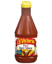 La Victoria® Medium Red Taco Sauce 15 oz. Plastic Bottle