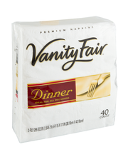 Vanity Fair Dinner 3-Ply Premium Napkins - 40