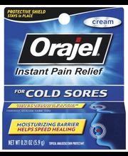 Orajel Cold Sores Cream Topical Analgesic/Skin Protectant .21...