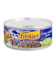 Purina Friskies Pate Classic Seafood Entree Cat Food 5.5 oz. Can