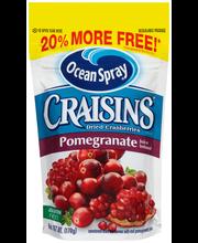 Ocean Spray® Craisins® Pomegranate Dried Cranberries 6 oz. Pouch