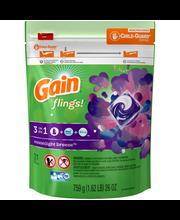 Gain® Flings!™ 3 in 1 Moonlight Breeze™ Detergent Pacs 26 oz....